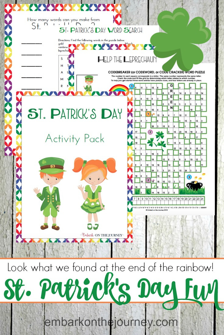 Fun St Patrick's Day Activities St Patricks Day Printable Activity Pack for Kids