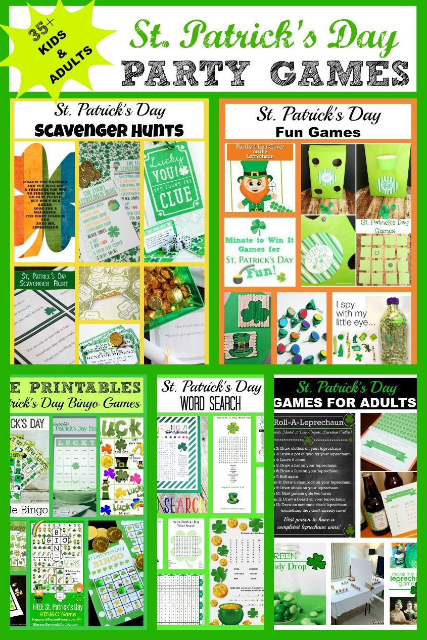 Fun St Patrick's Day Activities St Patrick s Day Party Games Kids and Adults